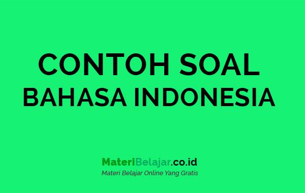 CONTOH SOAL BAHASA INDONESIA