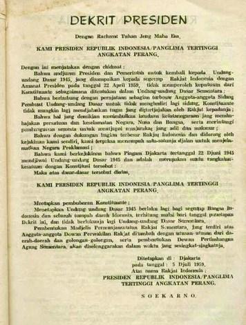 gambar isi dekret presiden