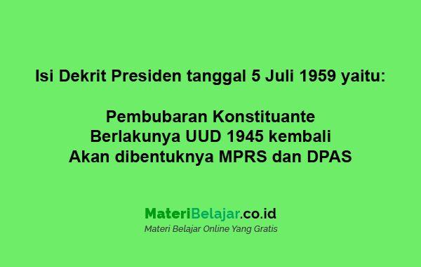 isi dekret presiden