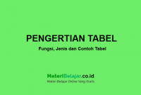 pengertian tabel