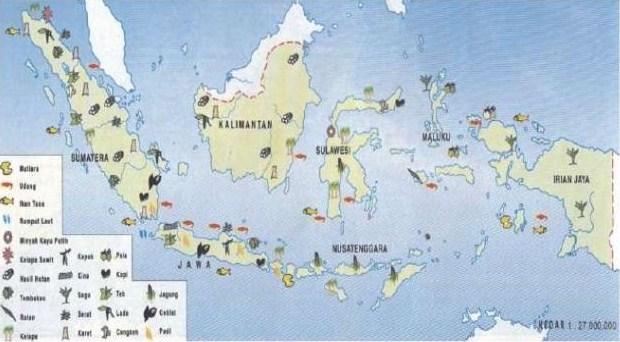 peta persebaran flora di indonesia