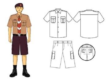 seragam Pramuka Penggalang pria