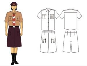 seragam pramuka penggalang wanita