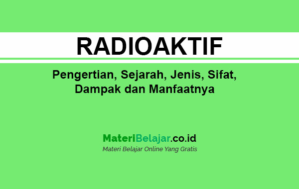 pengertian radioaktif