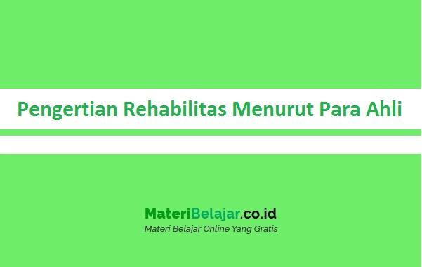 Pengertian Rehabilitas