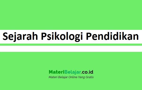 Sejarah Psikologi Pendidikan