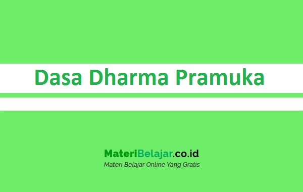 Dasa Dharma Pramuka