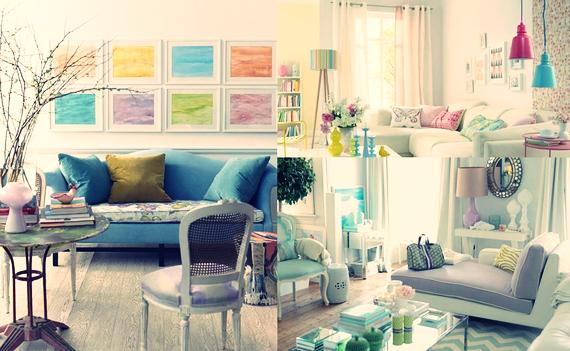 Contoh interior warna pastel