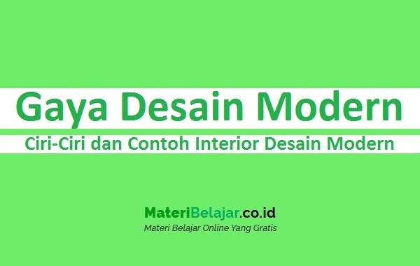 Gaya Desain Modern