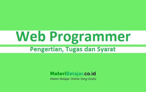 Pengertian Web Programmer