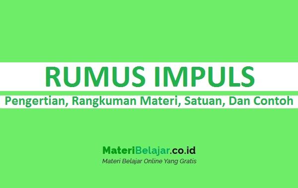 Rumus Impuls