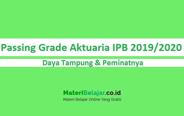 Passing Grade Aktuaria IPB 2019