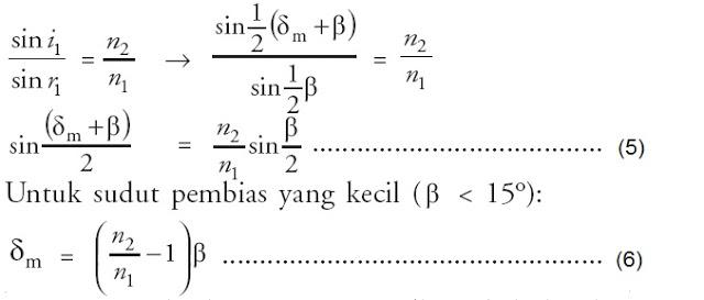 sudut-deviasi-minimum-pembias-prisma-dispersi