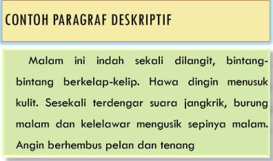 Contoh Paragraf Deskripsi