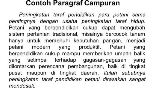 Contoh Paragraf Campuran Penjelasan Ciri Ciri Dan Contohnya