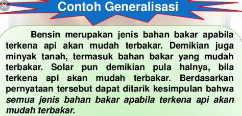 Contoh Paragraf Generalisasi Penjelasan Ciri Ciri Dan Contohnya