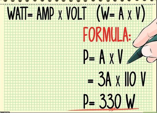 Rumus Watt, Volt dan Ampere