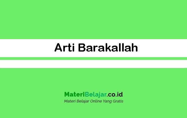 Arti Barakallah