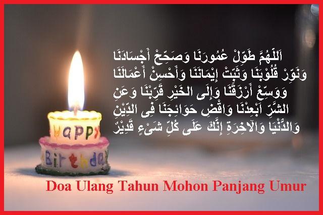 Doa ulang tahun panjang umur