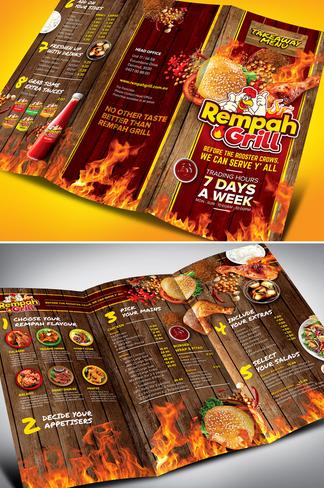 contoh leaflet makanan