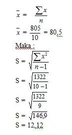 contoh soal 4 deviasi