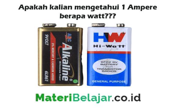 1 ampere = watt
